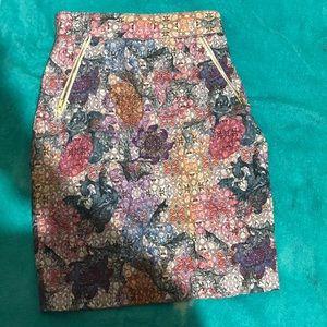 Vibrant floral skirt